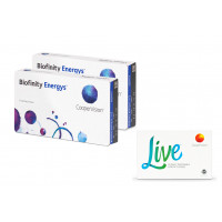 Biofinity Energys 2 x 6 šošoviek + Live daily disposable 2 x 5 šošoviek